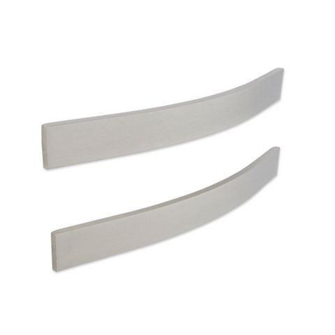Cooke & Lewis Stainless Steel Effect Curved Cabinet Handle, Pack of 2