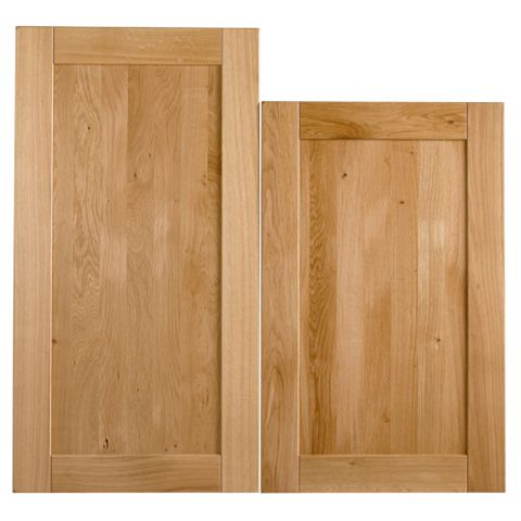 Cooke & Lewis Chesterton Solid Oak Tall Larder Door (W)600mm, Set of 2