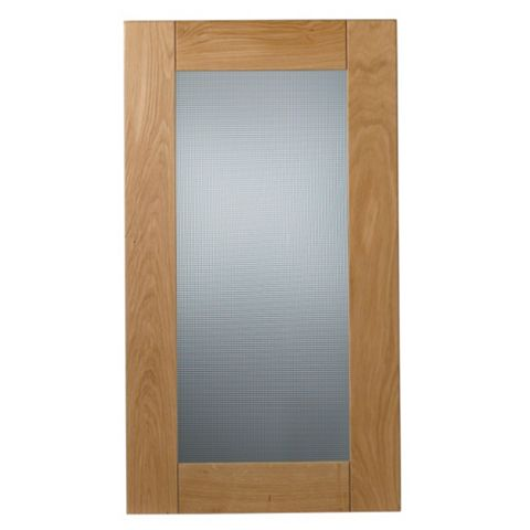 Cooke & Lewis Chesterton Solid Oak Tall Glazed Door (W)500mm