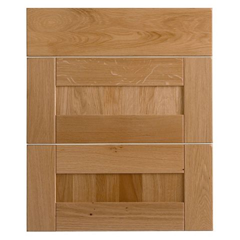 Cooke & Lewis Chesterton Solid Oak Drawer Front (W)600mm, Set of 3