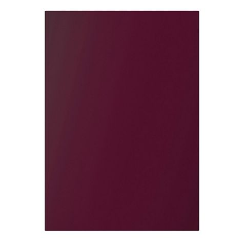 Cooke & Lewis Raffello High Gloss Aubergine Slab Standard Door (W)600mm