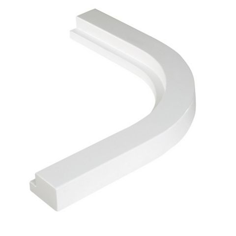 Cooke & Lewis High Gloss White Cornice/ Pelmet, 363mm