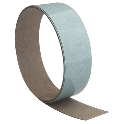 B&Q Cracked Glass Gloss Green Cracked Glass Effect Worktop Edging Tape (L)1500mm