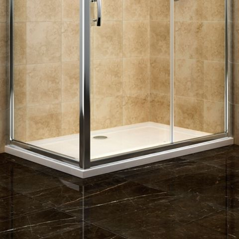 Cooke & Lewis Low Profile Rectangular Shower Tray (L)1200mm (W)800mm (D)45mm