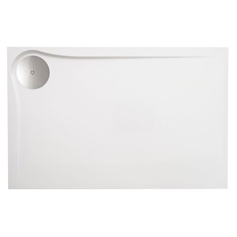 Cooke & Lewis Eclipse Ultra Low Profile Rectangular Shower Tray LH (L)1200mm (W)800mm (D)27mm
