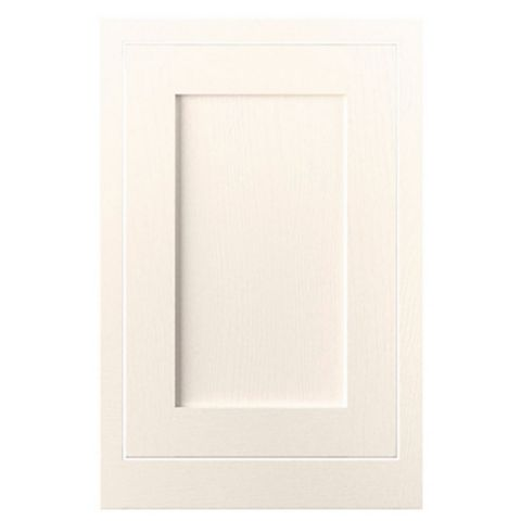 Cooke & Lewis Carisbrooke Ivory Framed Standard Door (W)500mm