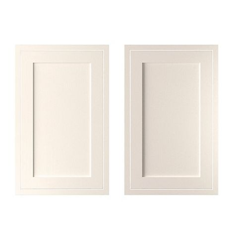 Cooke & Lewis Carisbrooke Ivory Framed Larder Door (W)600mm, Set of 2