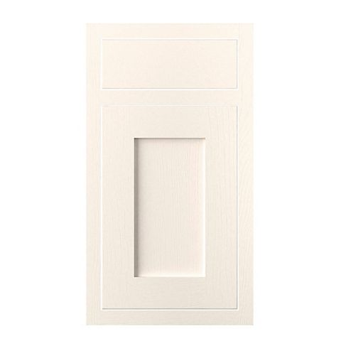 Cooke & Lewis Carisbrooke Ivory Framed Drawerline Door & Drawer Front (W)400mm, Set of 1 Door & 1 Drawer Pack