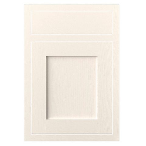Cooke & Lewis Carisbrooke Ivory Framed Drawerline Door & Drawer Front (W)500mm, Set of 1 Door & 1 Drawer Pack