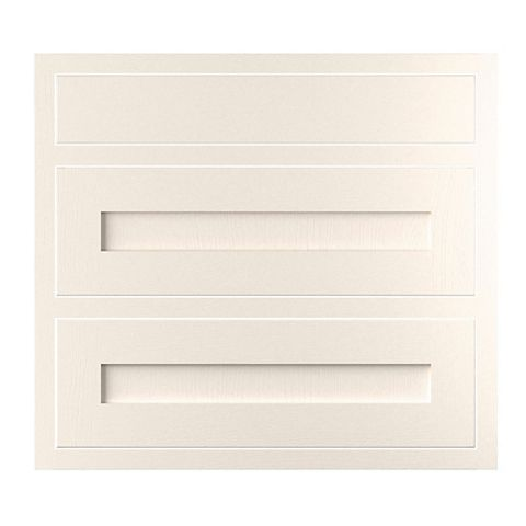 Cooke & Lewis Carisbrooke Ivory Framed Pan Drawer Front (W)800mm, Set of 3