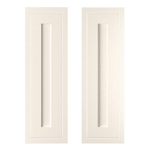 Cooke & Lewis Carisbrooke Ivory Framed Larder Door (W)300mm, Set of 2