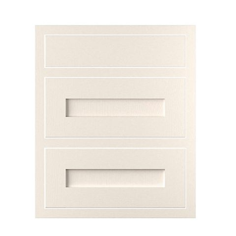 Cooke & Lewis Carisbrooke Ivory Framed Drawer Front (W)600mm, Set of 3