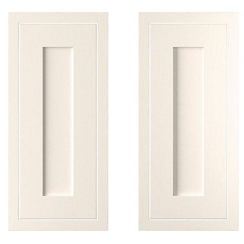 Cooke & Lewis Carisbrooke Ivory Framed Corner Base (W)925mm, Set of 2