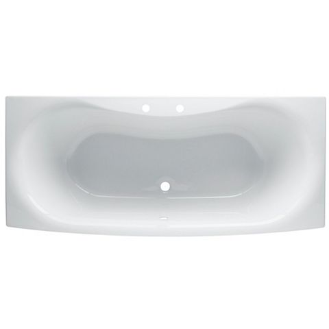 Cooke & Lewis Narissa Acrylic Twin Ended Straight Bath (L)1700mm (W)750mm