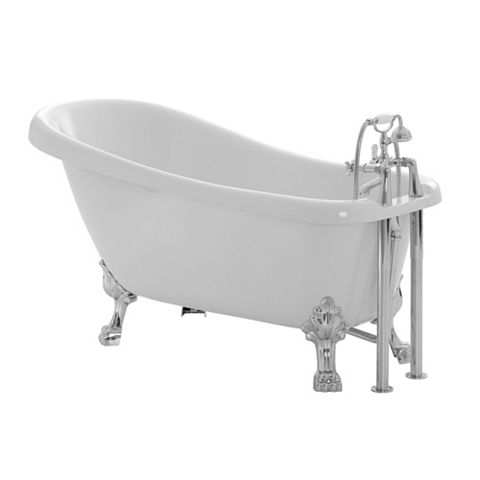 Cooke & Lewis Duchess Acrylic Key Hole Freestanding Bath (L)1700mm (W)730mm