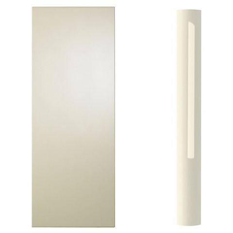 Cooke & Lewis Curved Tall Wall Pilaster Kit High Gloss Cream (H)937mm (W)70mm (D)355mm