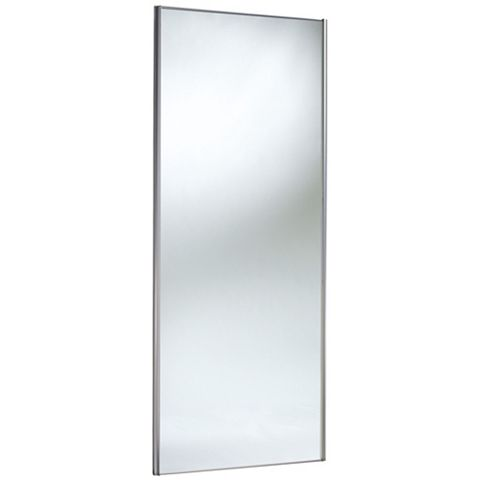 Traditional Full Length Mirror Stainless Steel Effect Sliding Wardrobe Door (H)2220 mm (W)914 mm