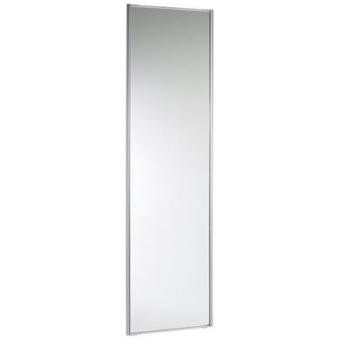 Traditional Full Length Mirror Stainless Steel Effect Sliding Wardrobe Door (H)2220 mm (W)762 mm