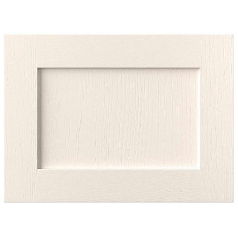 Cooke & Lewis Carisbrooke Ivory Framed Fixed Frame Integrated Extractor Fan Door (W)600mm