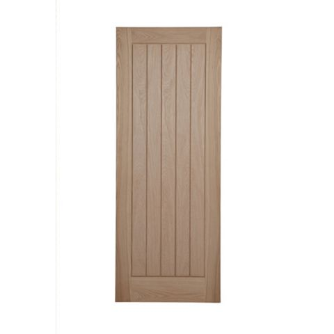 Cottage Panelled Oak Veneer Internal Door, (H)1981mm (W)838mm
