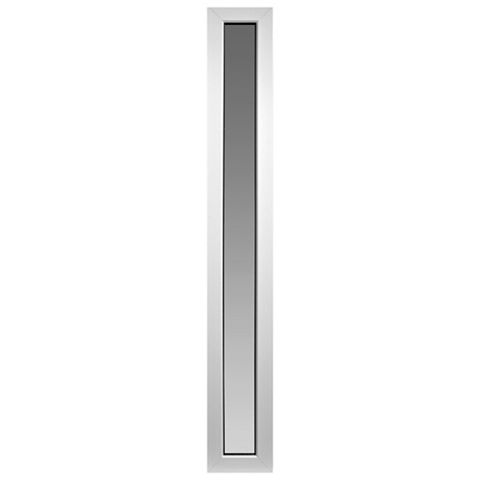 Side Light White PVCu Glazed Sidelight Door Kit, (H)2055mm (W)300mm