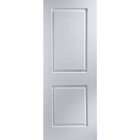 2 Panel Primed Internal Door, (H)1981mm (W)762mm