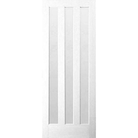 Vertical 3 Panel Primed Internal Door, (H)1981mm (W)762mm