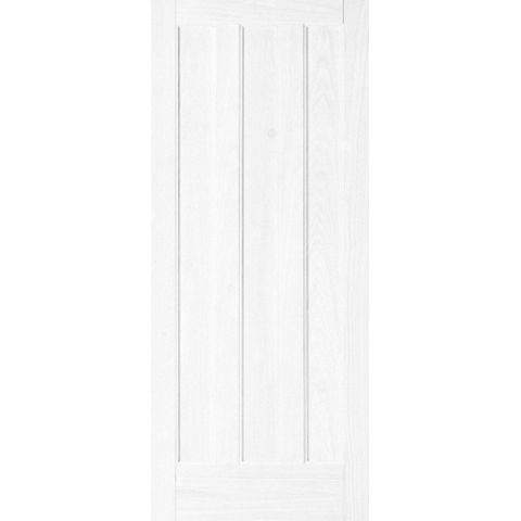 Vertical 3 Panel Primed Internal Door, (H)1981mm (W)610mm