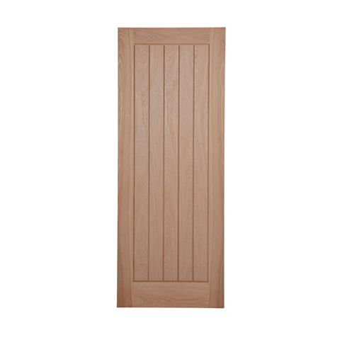 Cottage Panelled Oak Veneer Internal Unglazed Door, (H)1981mm (W)838mm