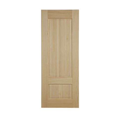 2 Panel Clear Pine Internal Unglazed Door, (H)1981mm (W)838mm