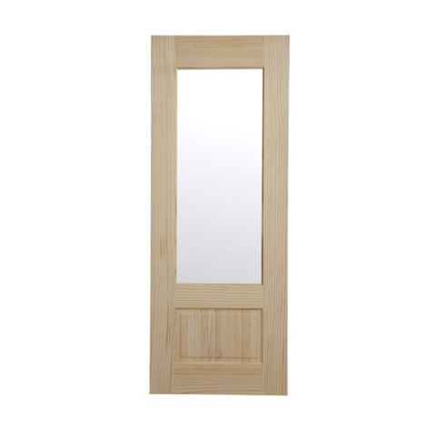 2 Panel Clear Pine Internal Door, (H)1981mm (W)686mm