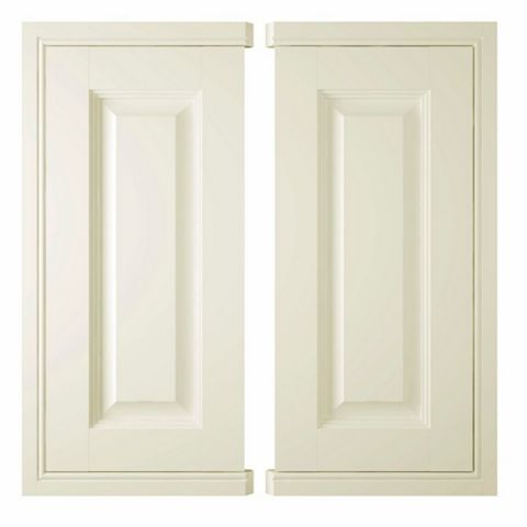 IT Kitchens Holywell Cream Style Classic Framed Corner Base Door (W)925mm, Set of 2