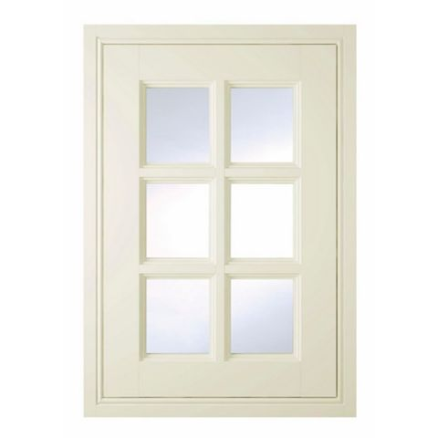 IT Kitchens Holywell Cream Style Classic Framed Glazed Door (W)500mm