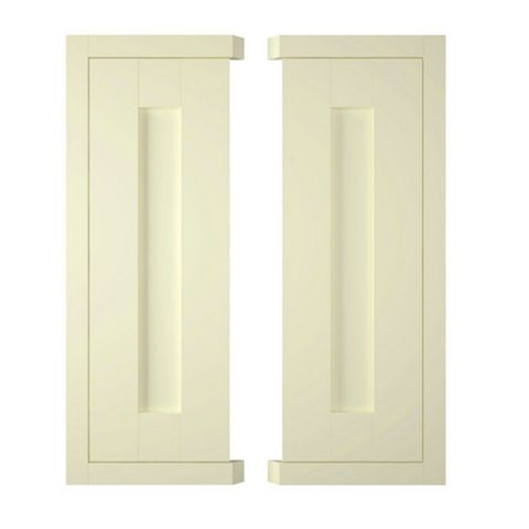 IT Kitchens Holywell Ivory Style Framed Corner Wall Door (W)625mm, Set of 2