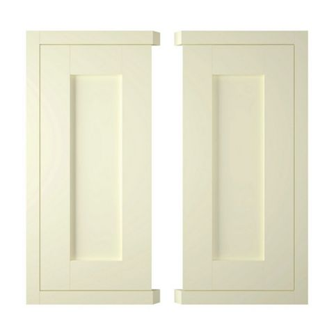 IT Kitchens Holywell Ivory Style Framed Corner Base (W)925mm, Set of 2