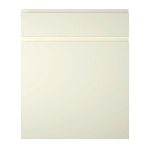 Cooke & Lewis Appleby High Gloss Cream Drawerline Door & Drawer Front (W)600mm, Set of 1 Door & 1 Drawer Pack