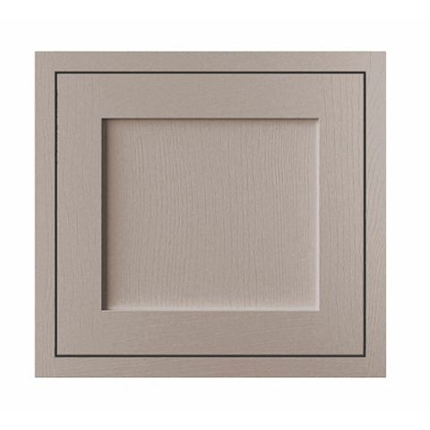 Cooke & Lewis Carisbrooke Taupe Framed Fixed Frame Semi-Integrated Appliance Door (W)600mm