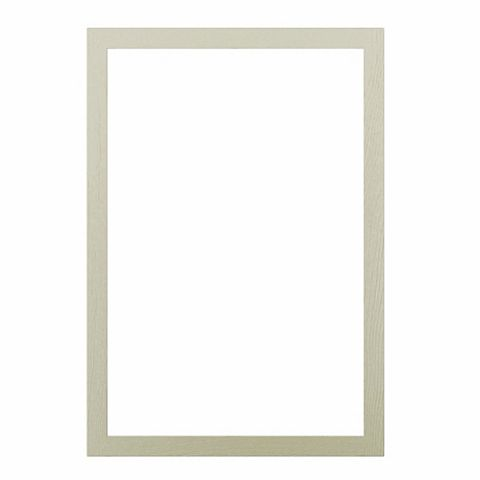 Cooke & Lewis Open Grain Effect Taupe Shaker Door Frame, 500 x 22 x 720mm