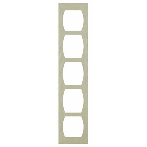 Cooke & Lewis Open Grain Effect Taupe Shaker Wine Rack Frame, 150 x 22 x 720mm
