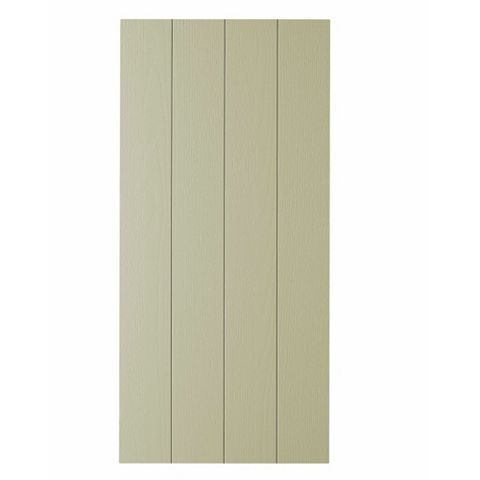 Cooke & Lewis Carisbrooke Taupe Taupe Shaker Clad On Wall Panel
