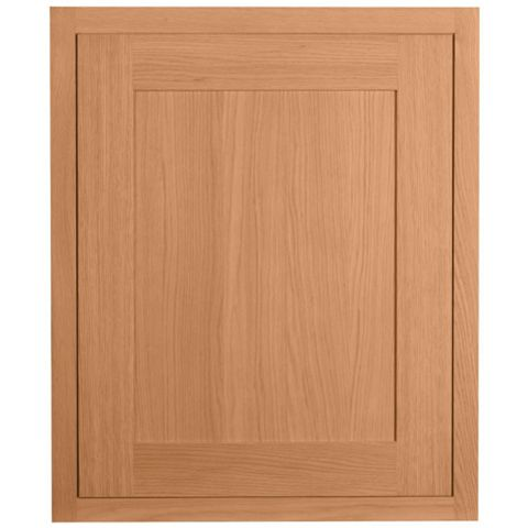 Cooke & Lewis Carisbrooke Oak Framed Fixed Frame Integrated Appliance Door (W)600mm
