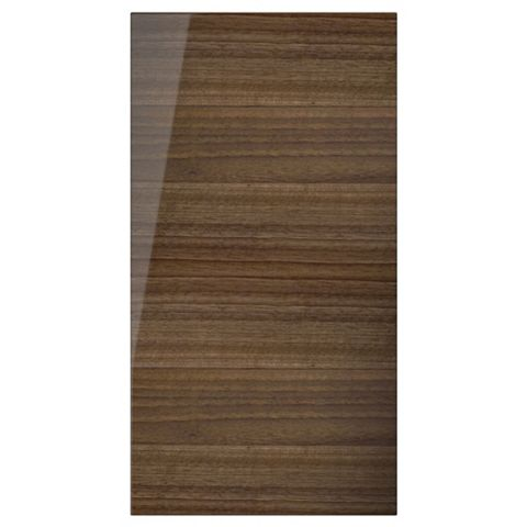 Cooke & Lewis High Gloss Walnut Diagonal Corner Door (W)625mm
