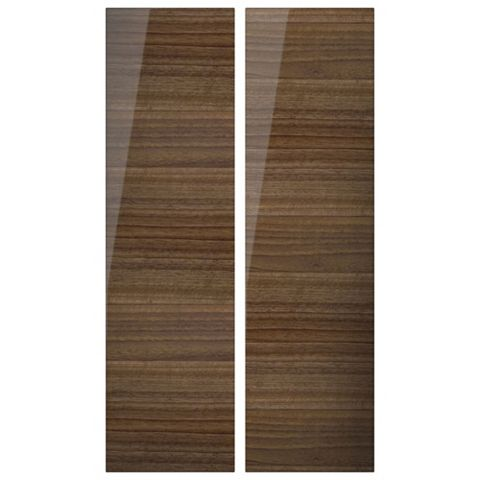 Cooke & Lewis High Gloss Walnut Tall Corner Wall Door (W)625mm, Set of 2