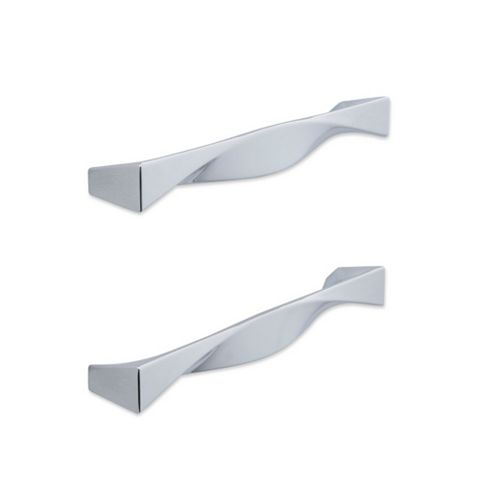 IT Kitchens Polished Chrome Effect Straight Cabinet Handle, Pack of 2