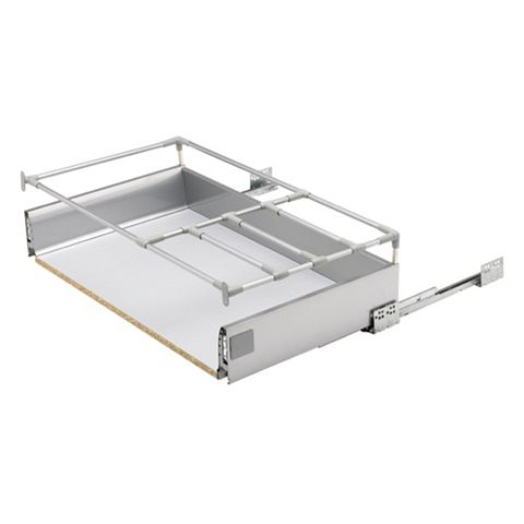 Cooke & Lewis Stainless Steel Effect Drawer Box (W)800mm