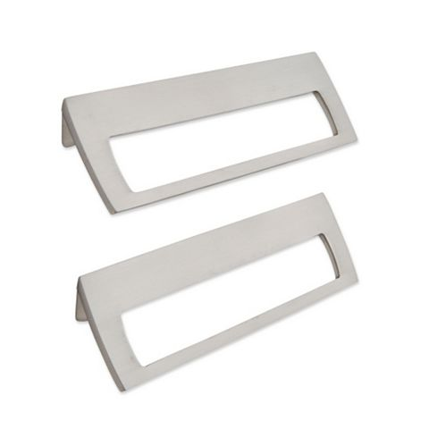 IT Kitchens Brushed Nickel Effect Letter Box Shaped Cabinet Handle, Pack of 2