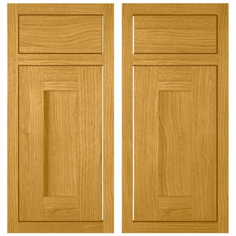 Cooke & Lewis Carisbrooke Oak Framed Corner Base Drawerline Door (W)925mm, Set of 2