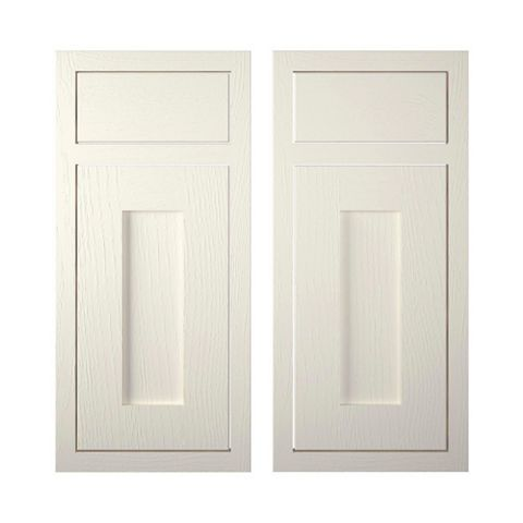 Cooke & Lewis Carisbrooke Ivory Framed Corner Base Drawerline Door (W)925mm, Set of 2