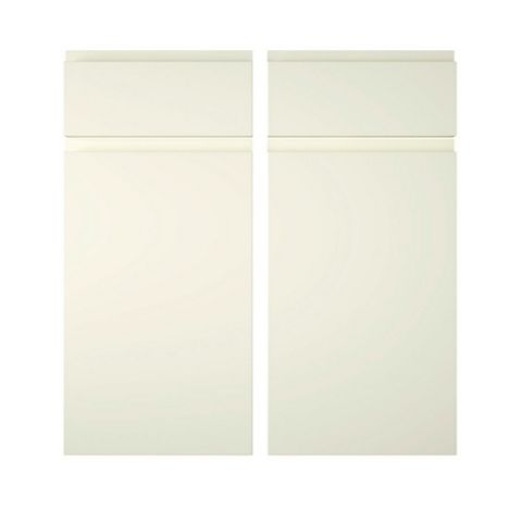 Cooke & Lewis Appleby High Gloss Cream Corner Base Drawerline Door (W)925mm, Set of 2