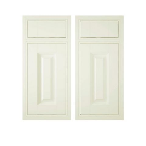 IT Kitchens Holywell Cream Style Classic Framed Corner Base Drawerline RH Door (W)925mm, Set of 2